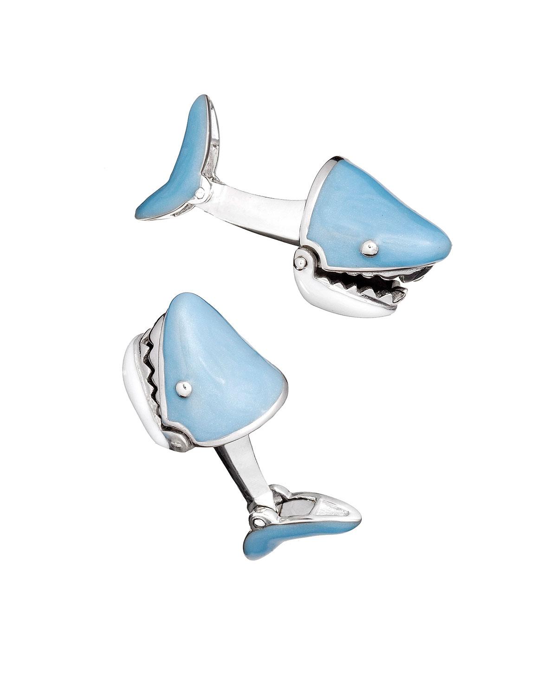 Movable Shark Face Cuff Links