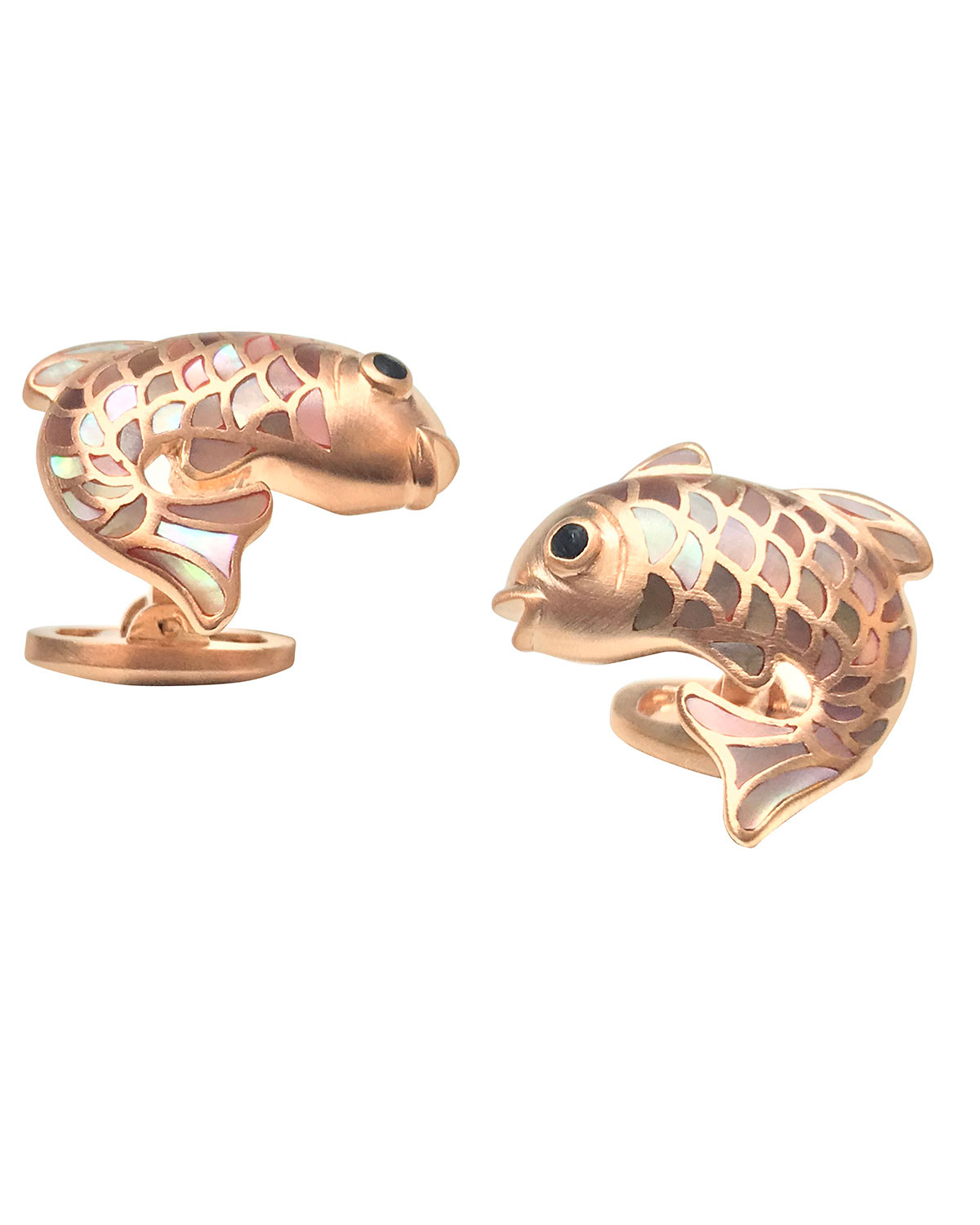 Mother-of-Pearl Fish Cuff Links