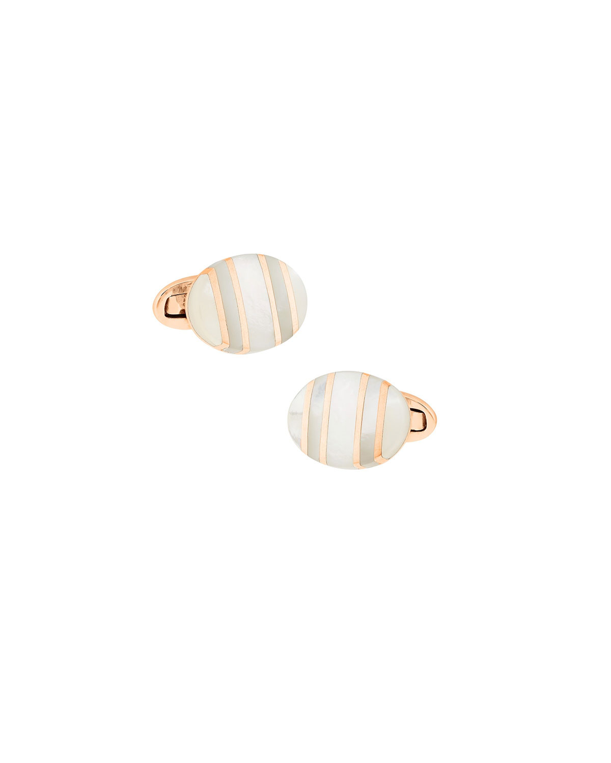 Men's Rose Gold Mother of Pearl Cufflinks