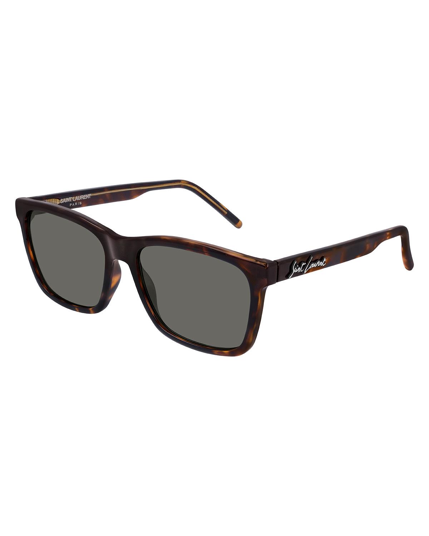 Men's Square Tortoiseshell Acetate Sunglasses