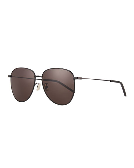 Saint Laurent Men's Metal Aviator Sunglasses