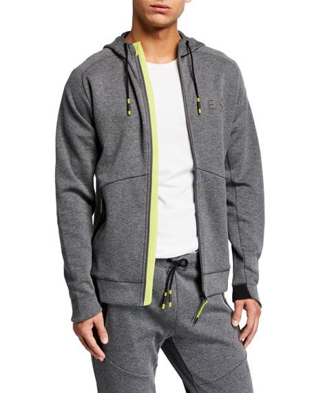 Emporio Armani Men's Natural Ventus Zip-Front Hoodie
