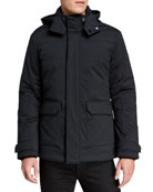 Emporio Armani Men's Mountain Pocket Hooded Coat