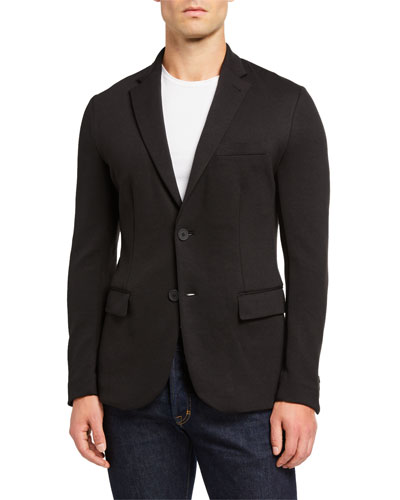 Men's Soft Double-Jersey Travel Jacket