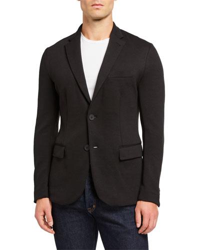 Men's Soft Double-Jersey Travel Jacket