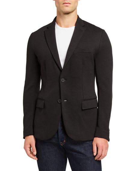 Emporio Armani Men's Soft Double-Jersey Travel Jacket