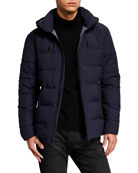 Emporio Armani Men's Solid Mountain Puffer Jacket