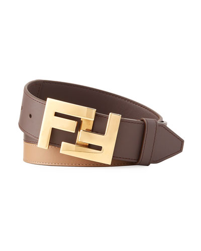 Men's FF Reversible Leather Belt