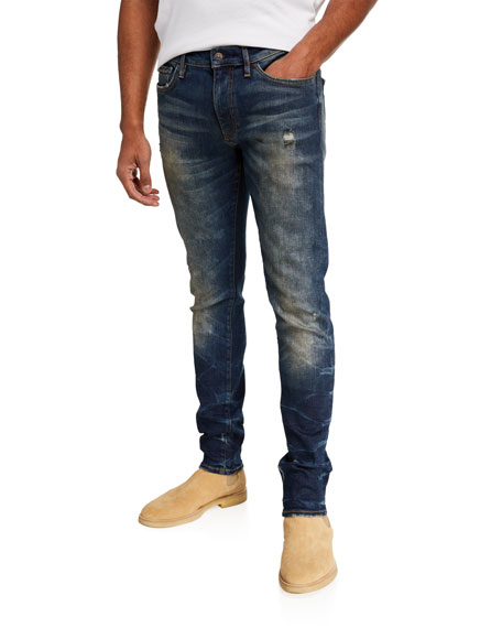 Ovadia Men's Distressed Skinny Max Jeans