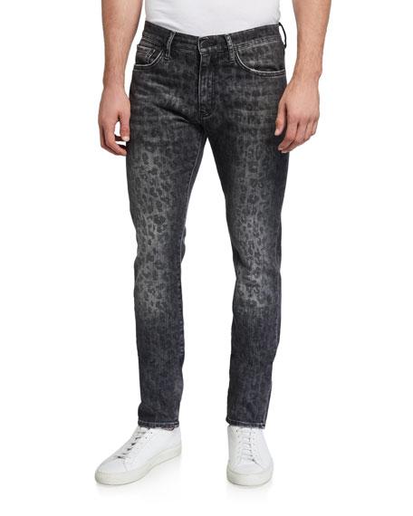 Ovadia Men's Slim Leopard-Pattern Jeans