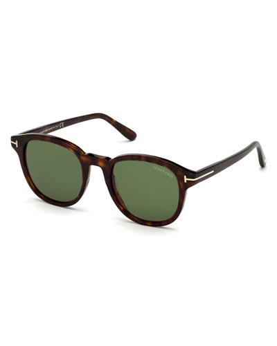 Men's Jameson Round Tortoiseshell Sunglasses