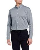 Ermenegildo Zegna Men's Geometric-Print Sport Shirt