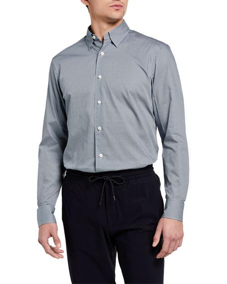 Ermenegildo Zegna Men's Trim-Fit Geometric-Print Sport Shirt