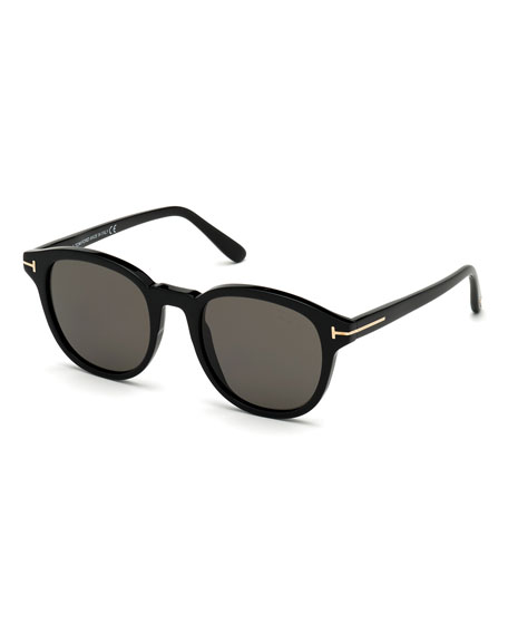 TOM FORD Men's Jameson Round Acetate Sunglasses