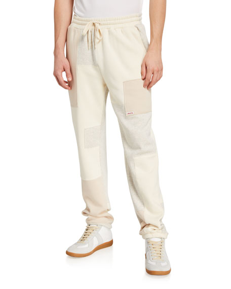 Ovadia Men's Patchwork Fleece Sweatpants