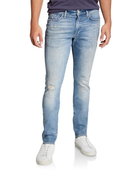Ovadia Men's Skinny Light-Wash Gallery Jeans