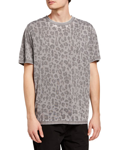 Leopard Cat Love Mens Cotton Blend T-Shirt