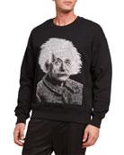 Ovadia Men's Einstein Graphic French-Terry Crewneck Sweatshirt