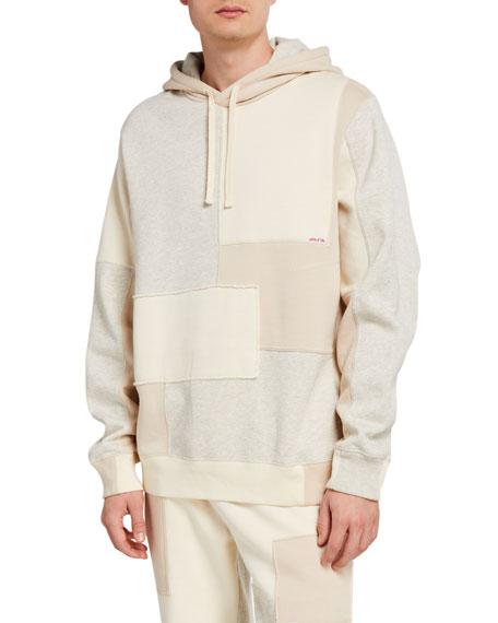Ovadia Men's Patchwork Fleece Pullover Hoodie