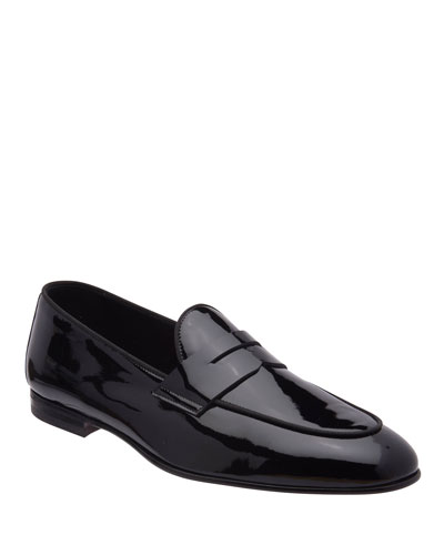 Men's Cardoza Patent Leather Penny Loafers