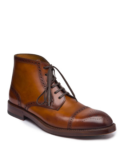 Men's Octavio Brogue Leather Boots
