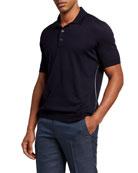 Ermenegildo Zegna Men's Premium Cotton Polo Shirt w/