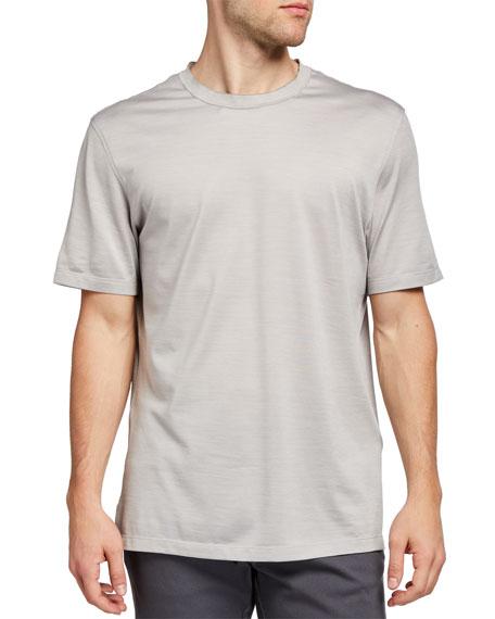 Ermenegildo Zegna Men's Regular-Fit Lightweight Silk-Cotton T-Shirt