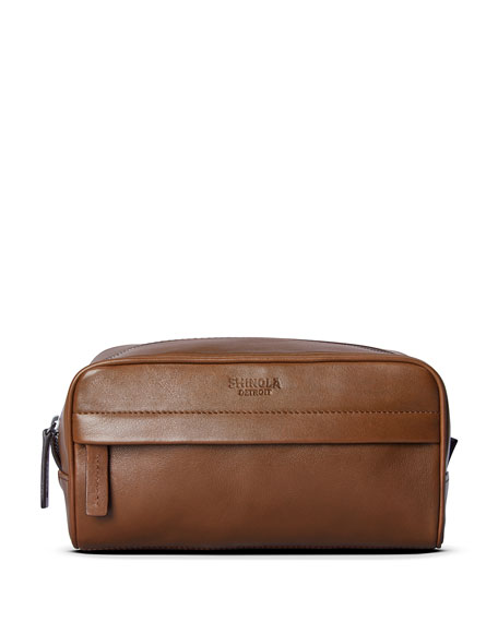 Shinola Men's Guardian Heritage Leather Travel Toiletry Case