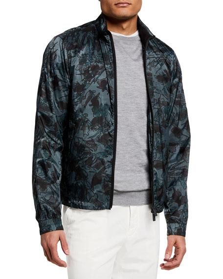 Ermenegildo Zegna Men's Printed Bomber Jacket