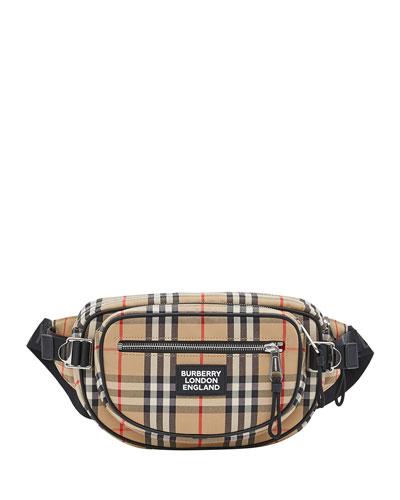 Men's Cannon Vintage Check Crossbody Belt Bag