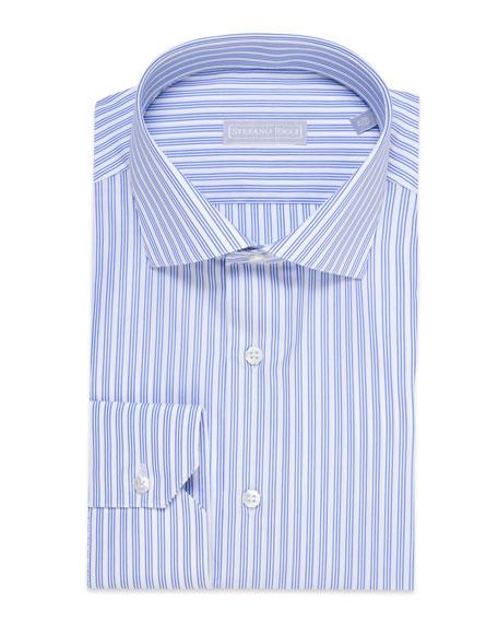Stefano Ricci Men's Triple Stripe Dress Shirt