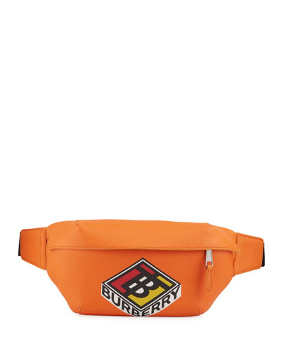 Men's Sonny Logo-Print Leather Belt Bag