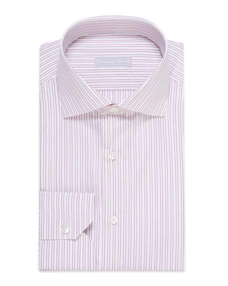 Stefano Ricci Men's Double-Striped Cotton Dress Shirt