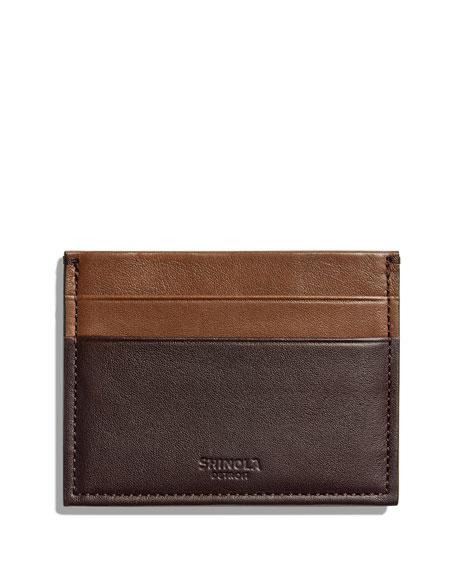 Shinola Men's Heritage Colorblock Leather Card Case