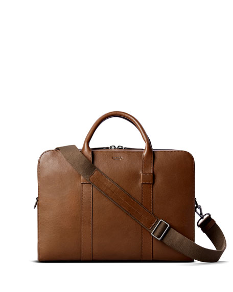 Shinola Men's Guardian Heritage Leather Laptop Briefcase