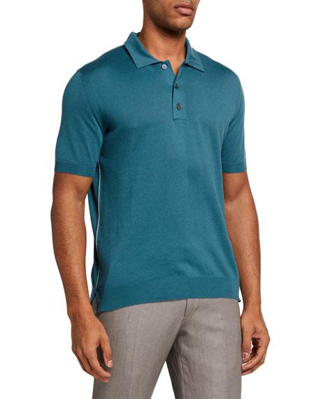 Ermenegildo Zegna Men's Three-Button Polo Shirt