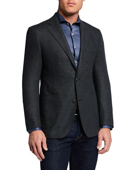 Atelier Munro Men's Houndstooth Check Sport Jacket