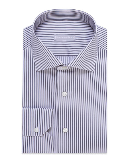 Stefano Ricci Men's Striped Dress Shirt