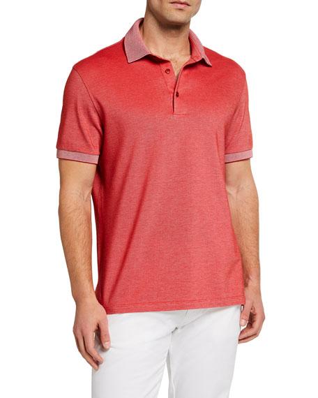 Ermenegildo Zegna Men's Solid Pique Regular-Fit Polo Shirt