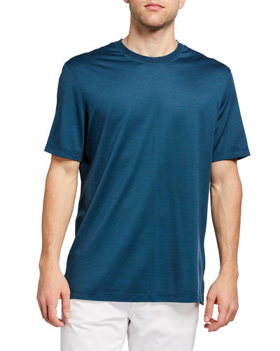 Men's Leggerissmo Cotton-Silk Regular-Fit Shirt