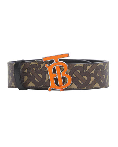 Men's TB Monogram Logo Belt
