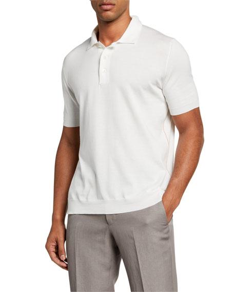 Ermenegildo Zegna Men's Solid Premium Cotton Polo Shirt