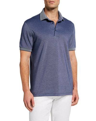 Men's Solid Pique Regular-Fit Polo Shirt