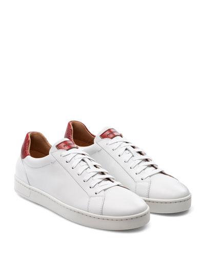 Men's Elonso Lo Contrast-Trim Low-Top Sneakers