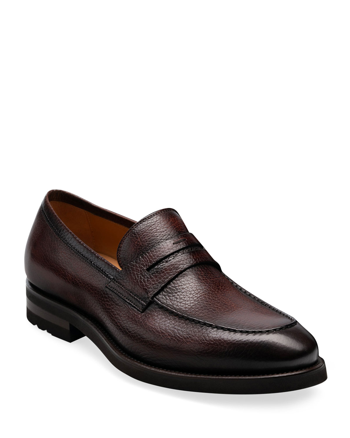 Men's Matlin II Pebbled Leather Penny Loafers
