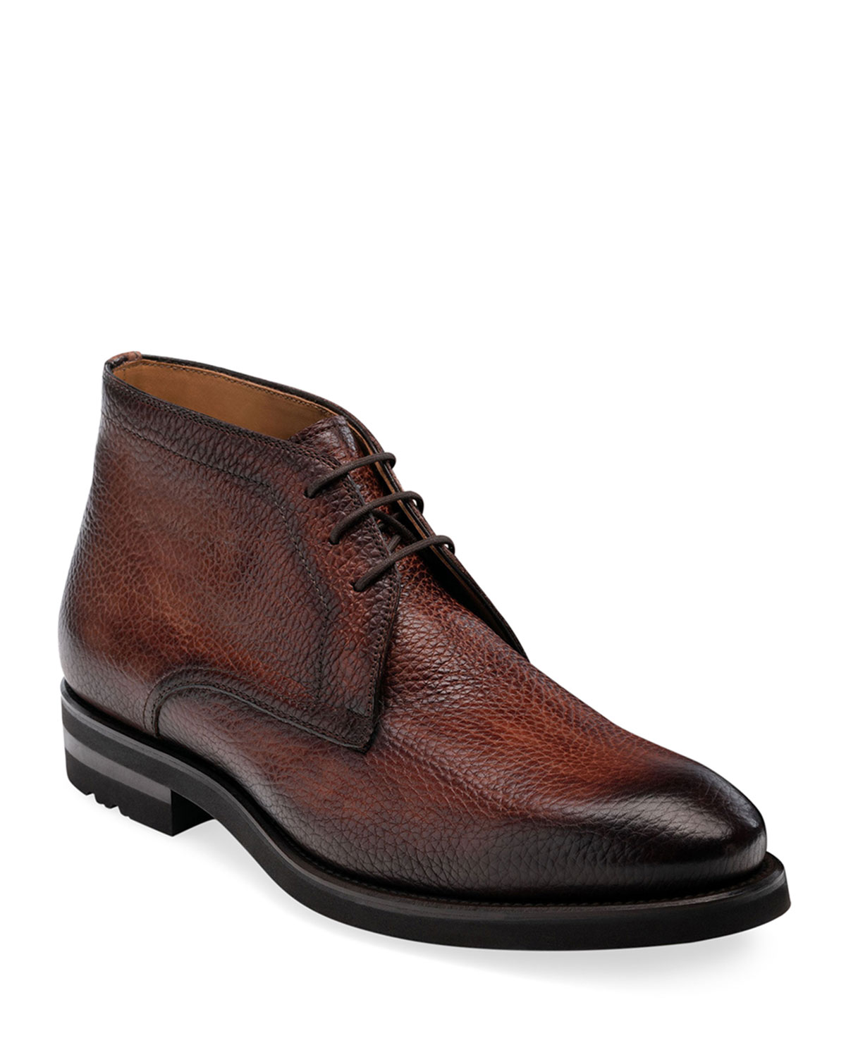 Men's Malone Pebbled Leather Chukka Boots