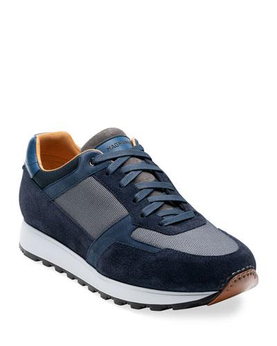 Men's Leonard Suede-Trim Sneakers