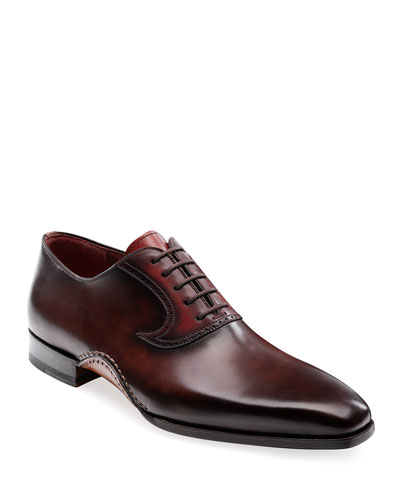 Men's Segura Lace-Up Leather Loafers