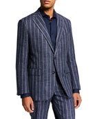Atelier Munro Men's Chalk-Stripe Two-Piece Suit