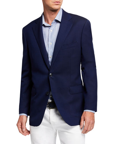 Men's Hopsack Two-Button Jacket